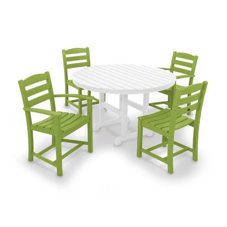 La Casa Café 5-Piece Dining Set in Lime