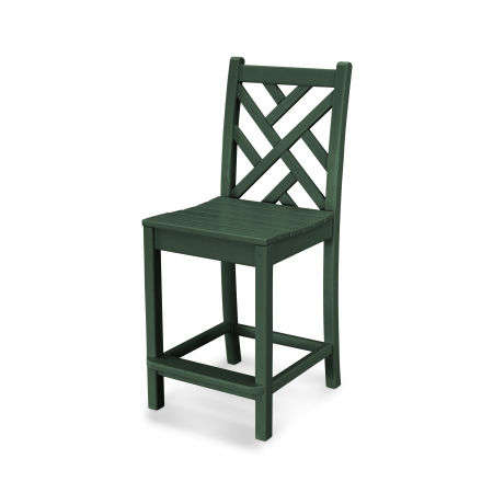 Chippendale Counter Side Chair in Green