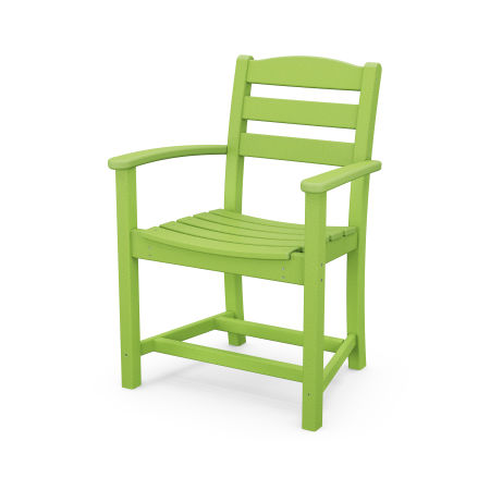 La Casa Café Dining Arm Chair in Lime