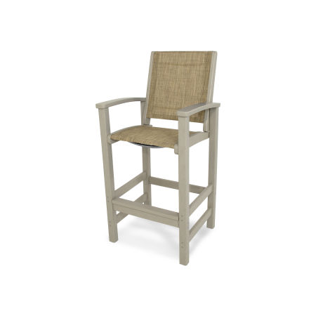 Coastal Bar Chair in Sand / Burlap Sling