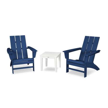 Modern Adirondack 3-Piece Set in Navy / White