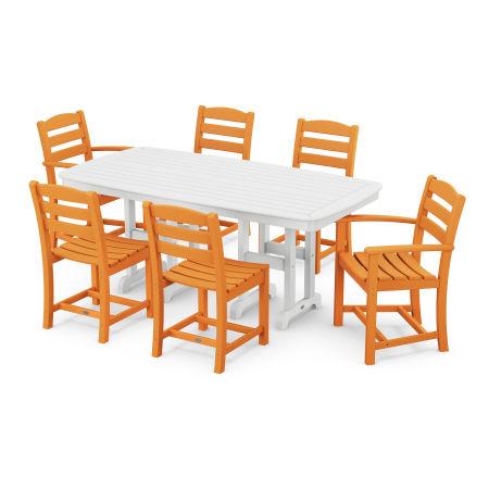La Casa Café 7-Piece Dining Set in Tangerine
