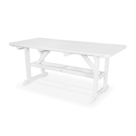 "Park 33"" x 70"" Picnic Table in White"