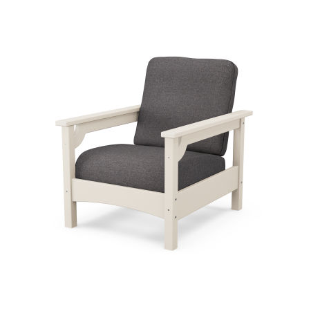 Club Chair in Sand / Ash Charcoal