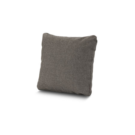 "16"" Outdoor Throw Pillow by POLYWOOD® in Blend Coal"