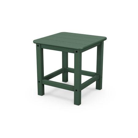 "Seashell 18"" Side Table in Green"