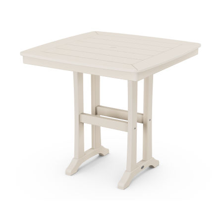 """Nautical Trestle 37"""" Counter Table in Sand"""