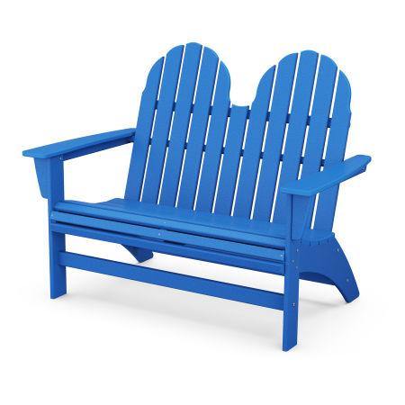 "Vineyard 48"" Adirondack Bench in Pacific Blue"