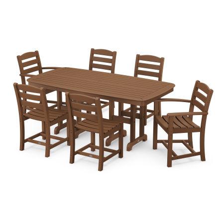 La Casa Café 7-Piece Dining Set in Teak