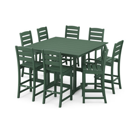 Lakeside 9-Piece Bar Side Chair Set in Green