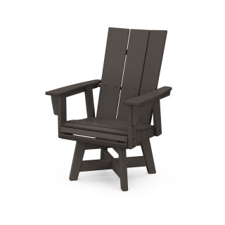 Modern Curveback Adirondack Swivel Dining Chair in Vintage Finish