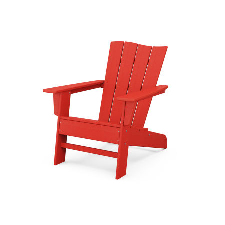 The Wave Chair Left in Sunset Red