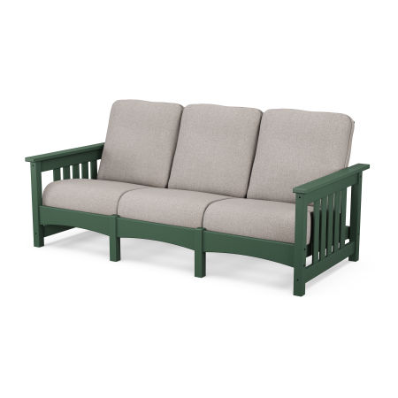 Mission Sofa in Green / Weathered Tweed