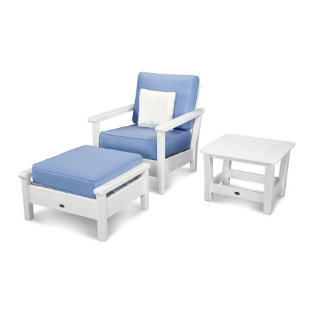 Harbour 3-Piece Set in White / Air Blue