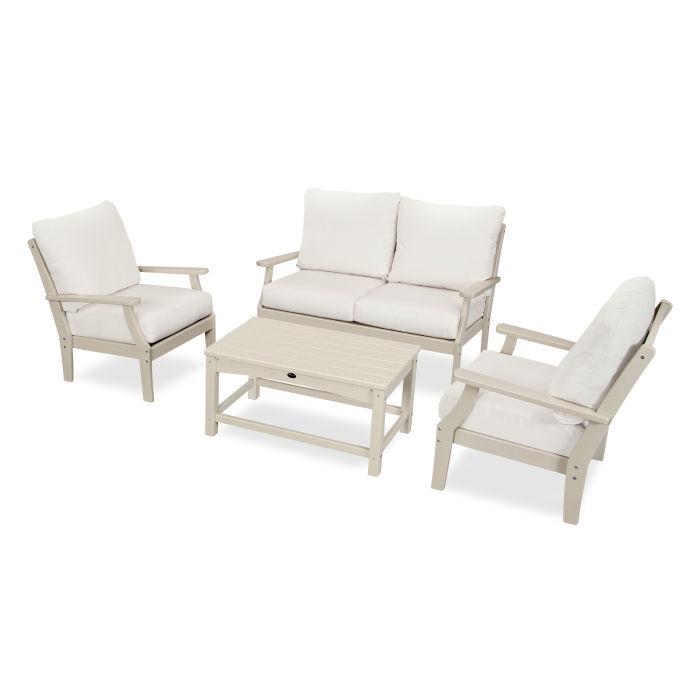 Yacht Club 4-Piece Deep Seating Chair Set