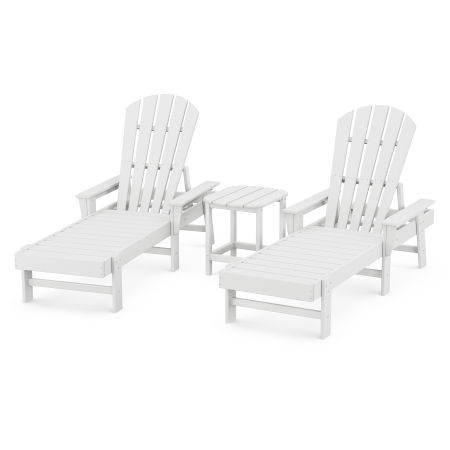 Chaise 3-Piece Set in White