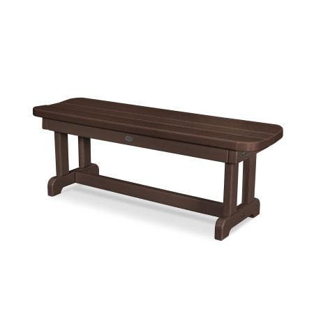"Park 48"" Backless Bench in Mahogany"