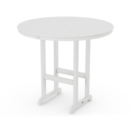 "Round 48"" Bar Table in White"