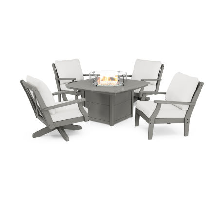 Braxton 5-Piece Deep Seating Set with Fire Table