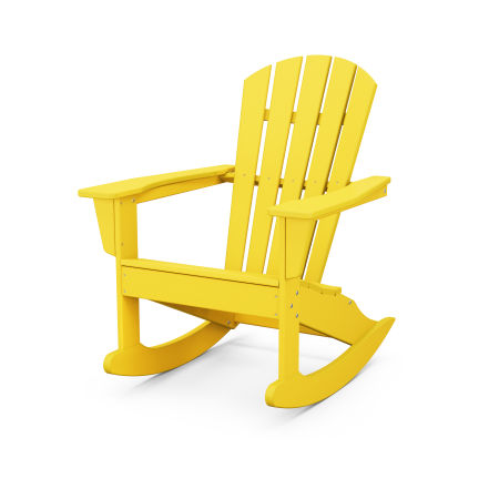 Palm Coast Adirondack Rocking Chair in Lemon