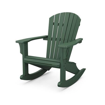 Seashell Rocking Chair in Green
