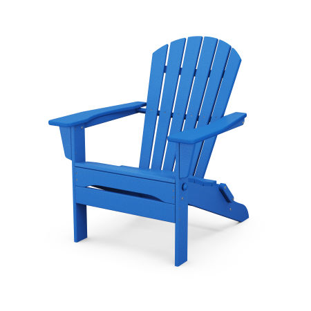 South Beach Folding Adirondack Chair in Pacific Blue