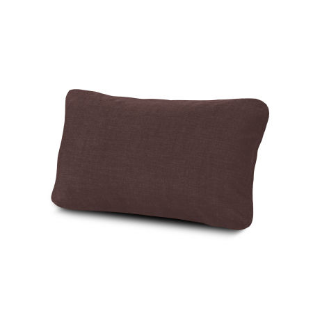 Outdoor Lumbar Pillow in Cast Currant