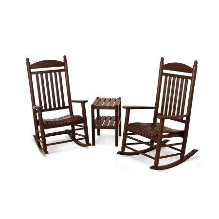 Jefferson 3-Piece Rocking Chair Set in Mahogany