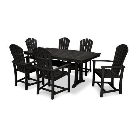 Palm Coast 7 Piece Dining Set in Black