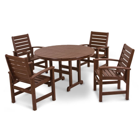 Signature 5-Piece Dining Set in Mahogany