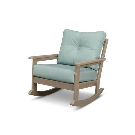 Vineyard Deep Seating Rocking Chair in Vintage Sahara / Spa