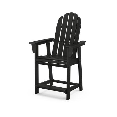 Vineyard Curveback Adirondack Counter Chair in Black