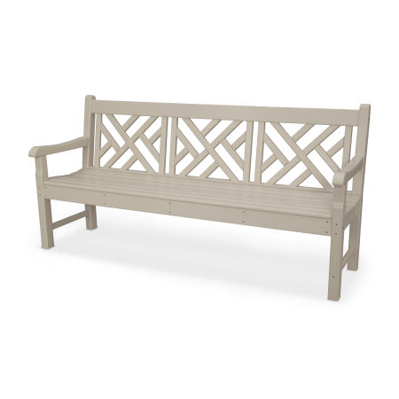 """Rockford 72"""" Chippendale Bench in Sand"""
