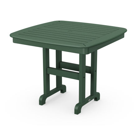 """Nautical 37"""" Dining Table in Green"""
