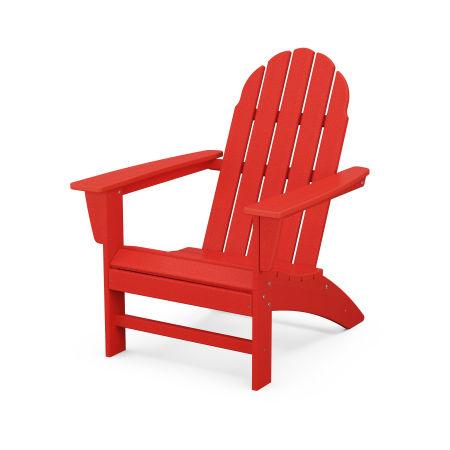 Vineyard Adirondack Chair in Sunset Red
