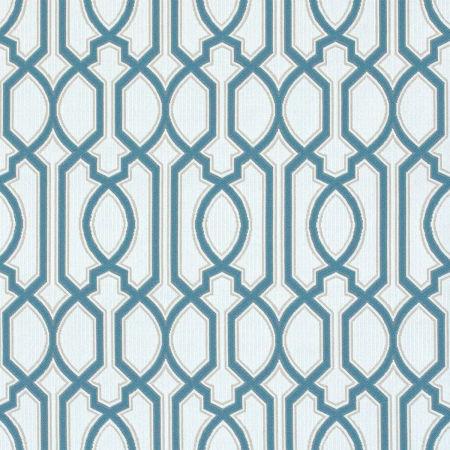 Chelsey Trellis Cobalt Performance Fabric Sample