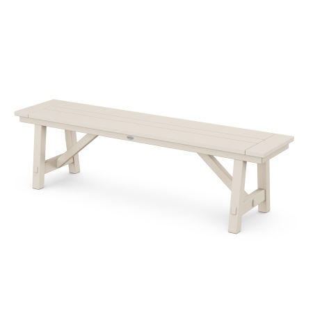 "Rustic Farmhouse 60"" Backless Bench in Sand"