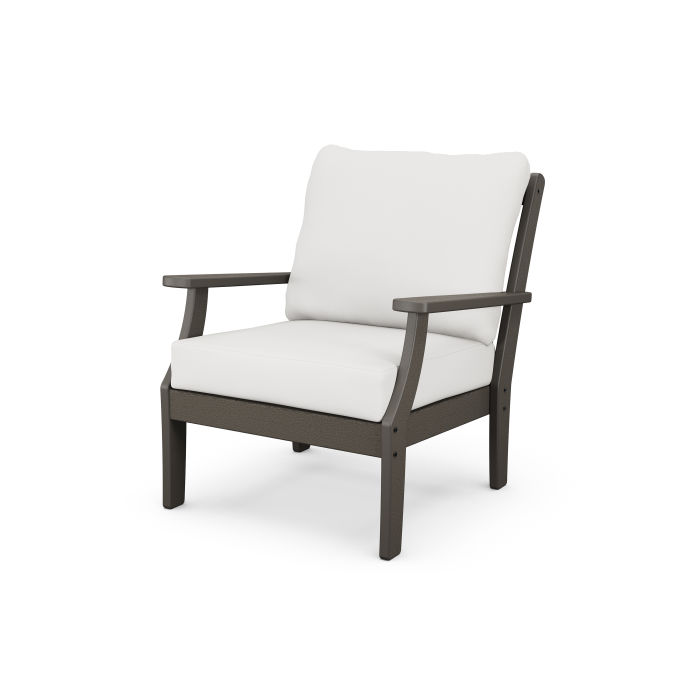 Braxton Deep Seating Chair in Vintage Finish
