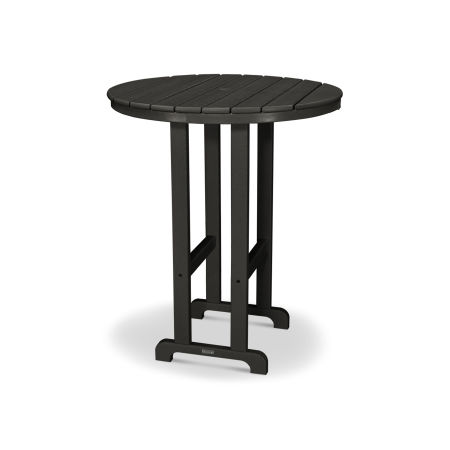 """Classics Round 36"""" Bar Table in Black"""