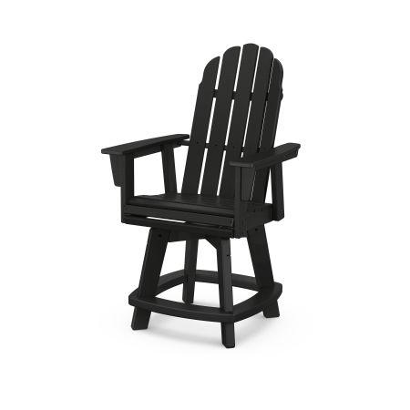 Vineyard Adirondack Swivel Counter Chair in Black