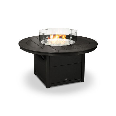 """Round 48"""" Fire Pit Table in Black"""