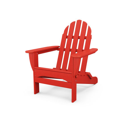 Classic Folding Adirondack in Sunset Red