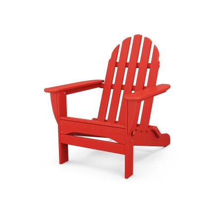 Classic Folding Adirondack in Sunset Red
