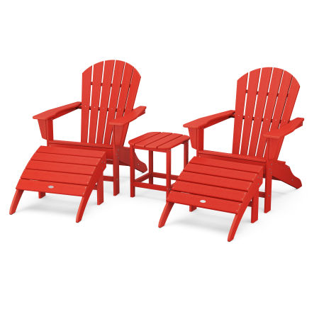 South Beach Adirondack 5-Piece Set in Sunset Red