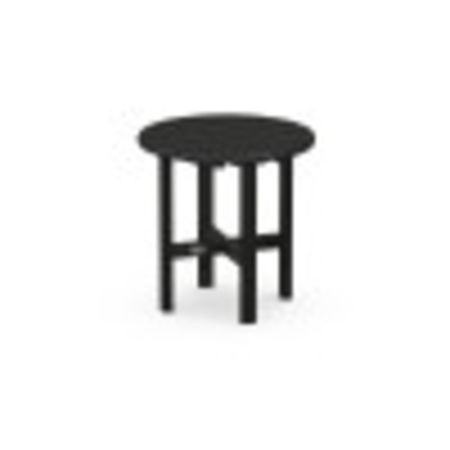 """Round 18"""" Side Table in Black"""
