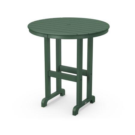 """La Casa Café Round 36"""" Counter Table in Green"""