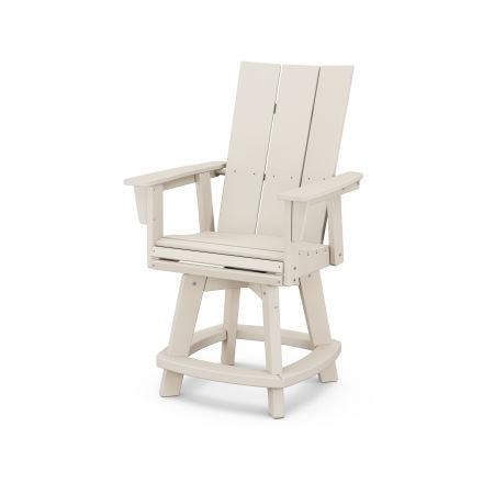 Modern Adirondack Swivel Counter Chair in Sand