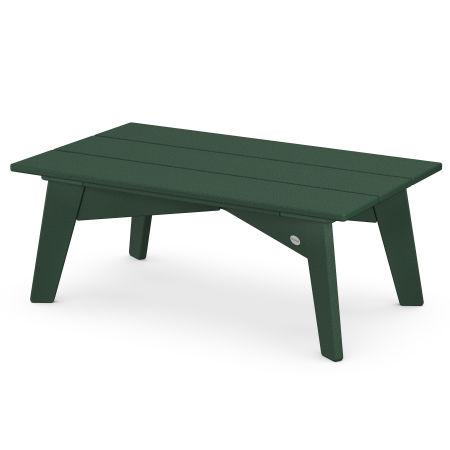 Riviera Modern Coffee Table in Green
