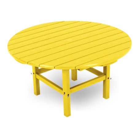 "Round 38"" Conversation Table in Lemon"