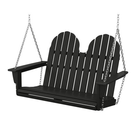"Vineyard Adirondack 48"" Swing in Black"